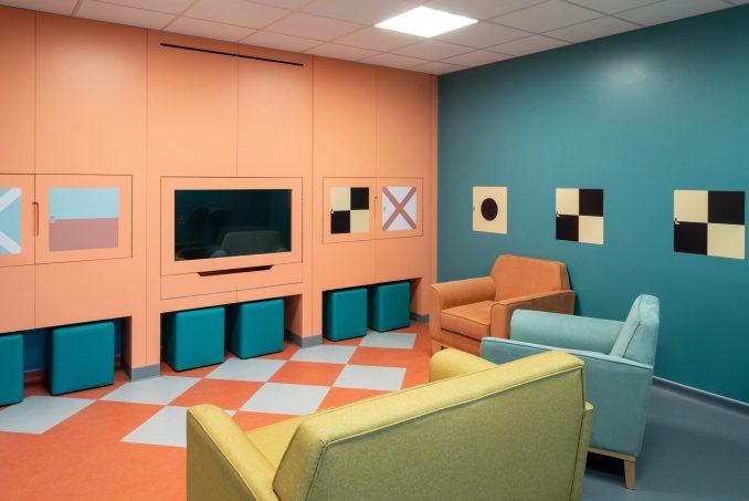 Quiet zone in communal lounge at CAMHS Edinburgh mental health unit