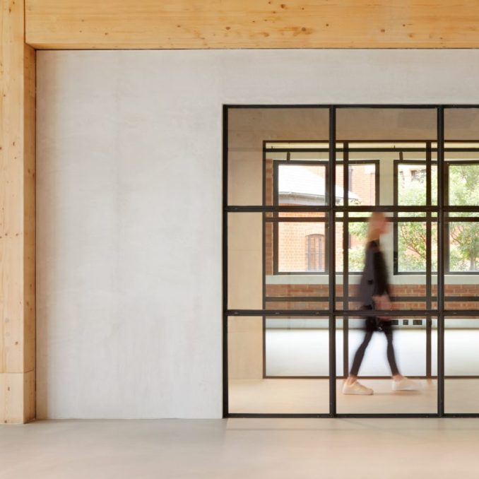 Crittal-style windows in The Department Store Studios by Squire and Partners