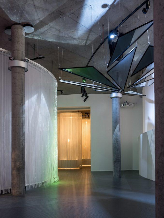 Concrete museum interior