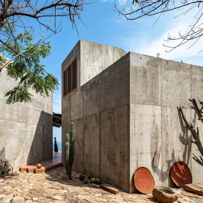 Concrete house on Mexican beach