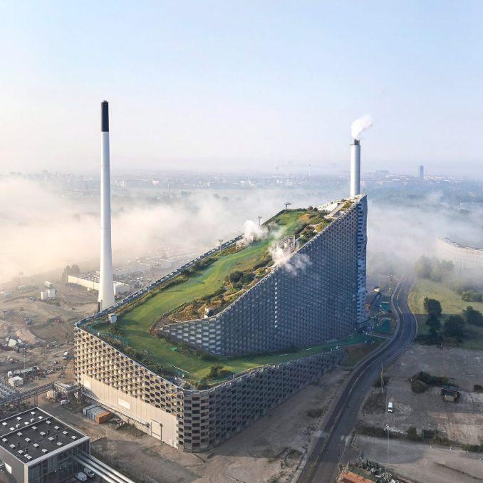 BIG designed power plant in copenhagen