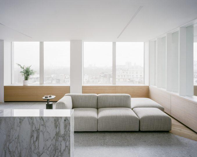 A sofa inside Smithson Tower