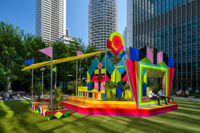 A colourful pavilion by Morag Myerscough