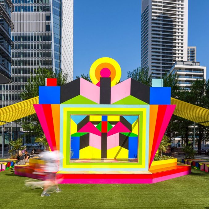 A colourful pavilion in London