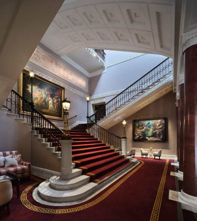 The foyers were reinstated with original design elements