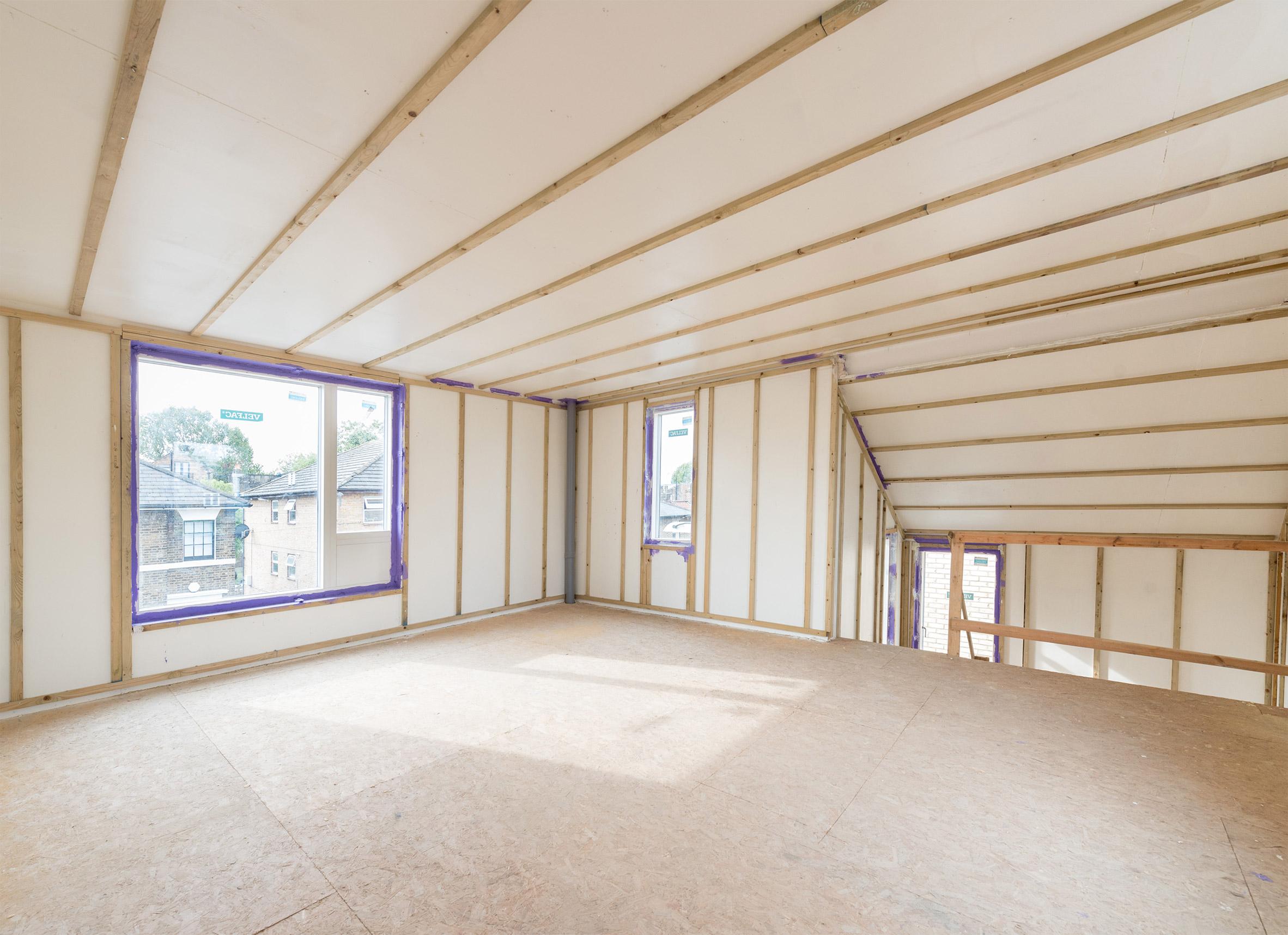 Interior of custom-built home