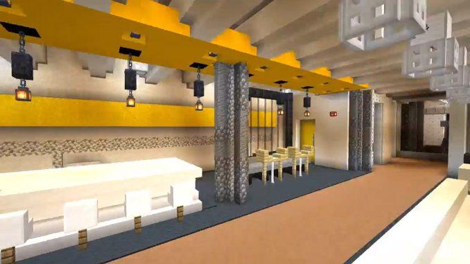 Interior of Detroit campus by BDG in Minecraft