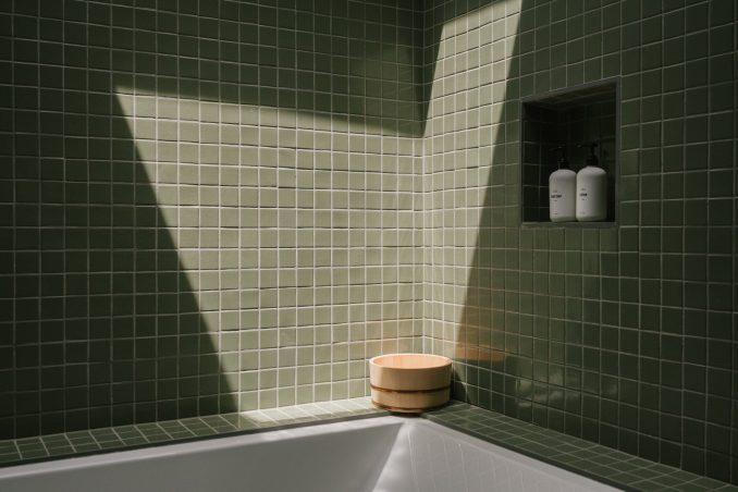 Zen Den has bathrooms with tiles from Fireclay