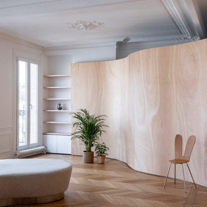 Wood Ribbon Apartment by toledano+architects