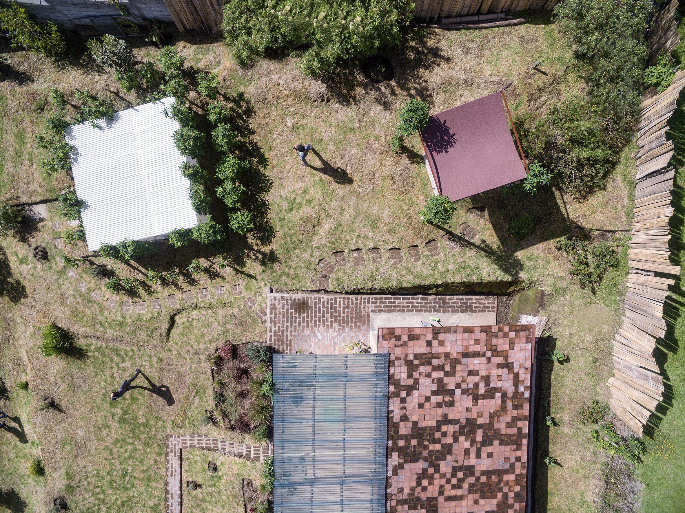 Aerial view of Casa Jardin by Al Borde