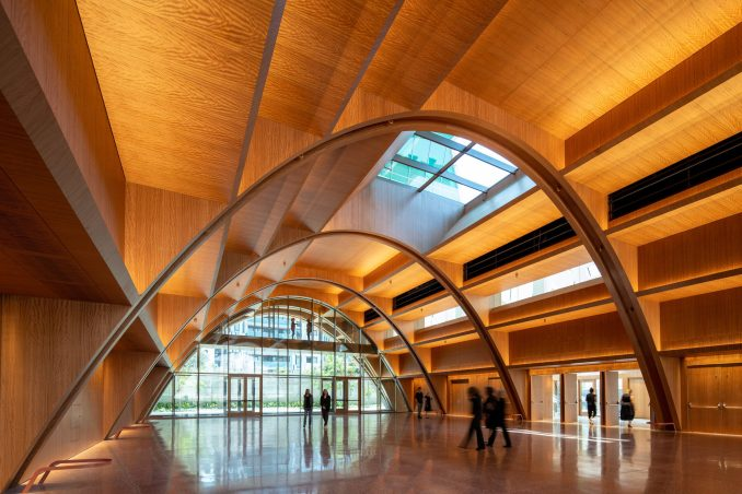 Events space with a vaulted timber ceiling