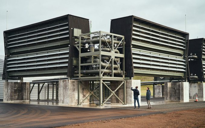 Stackable collector units at the Climeworks Orca plant