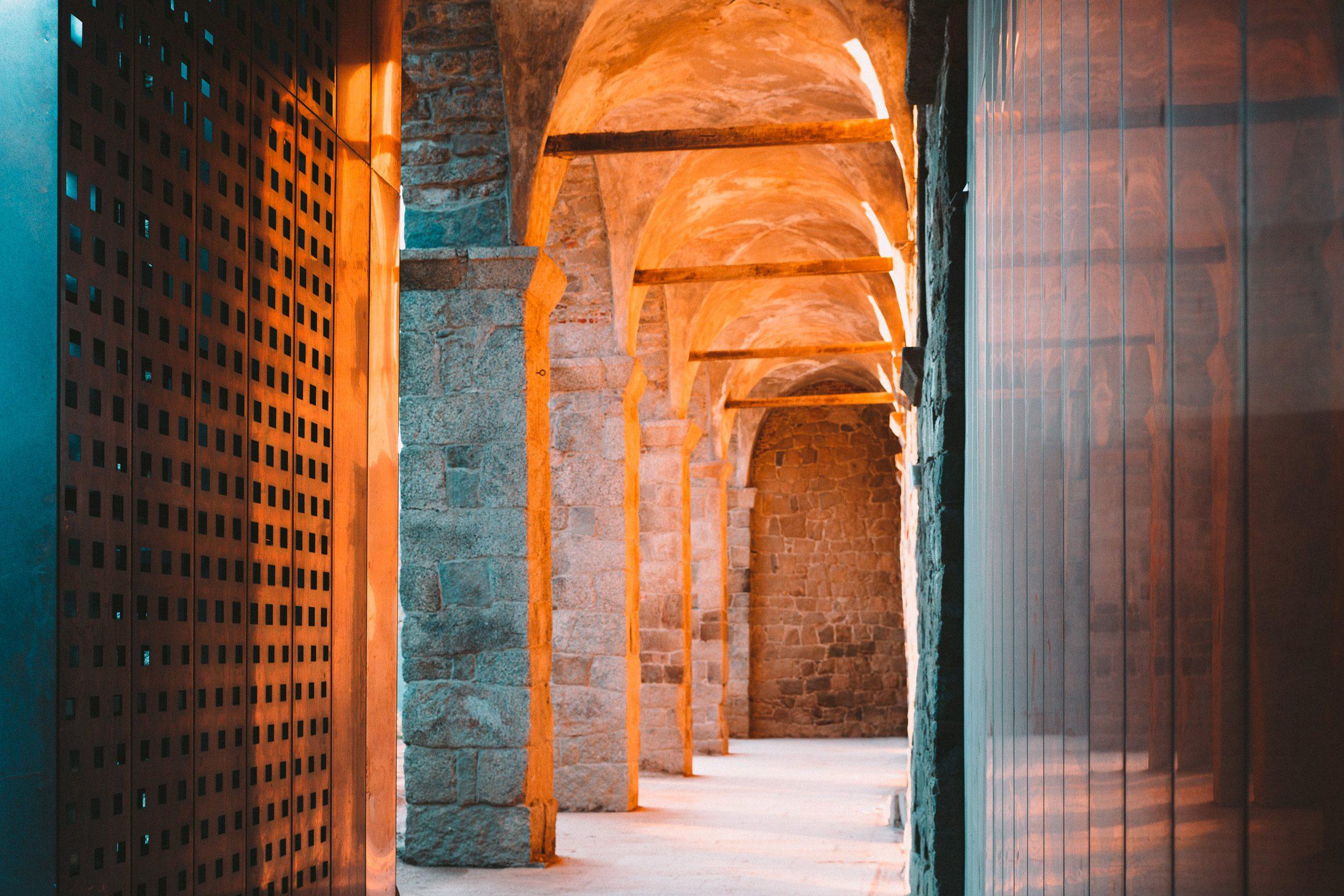 The interior glows a copper hue