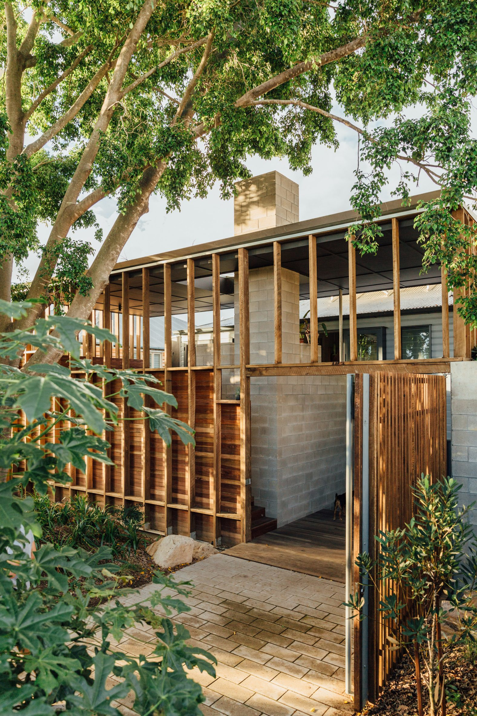 Timber and concrete extension