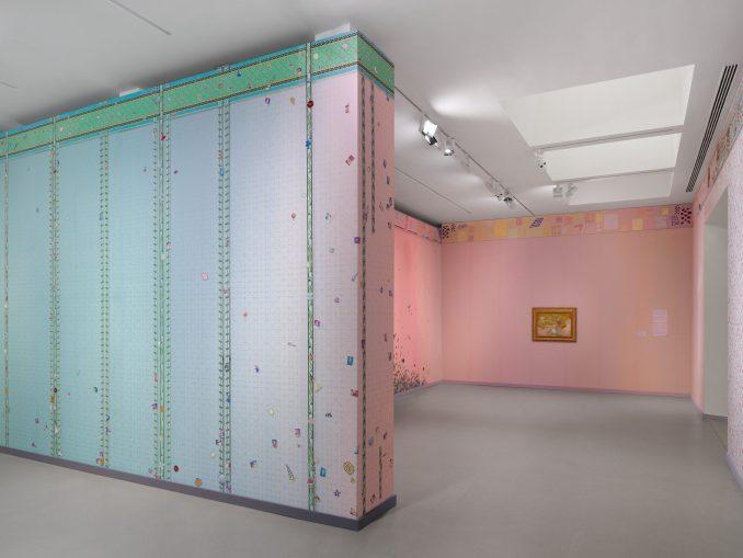 Laura Owens and Vincent van Gogh exhibition interior