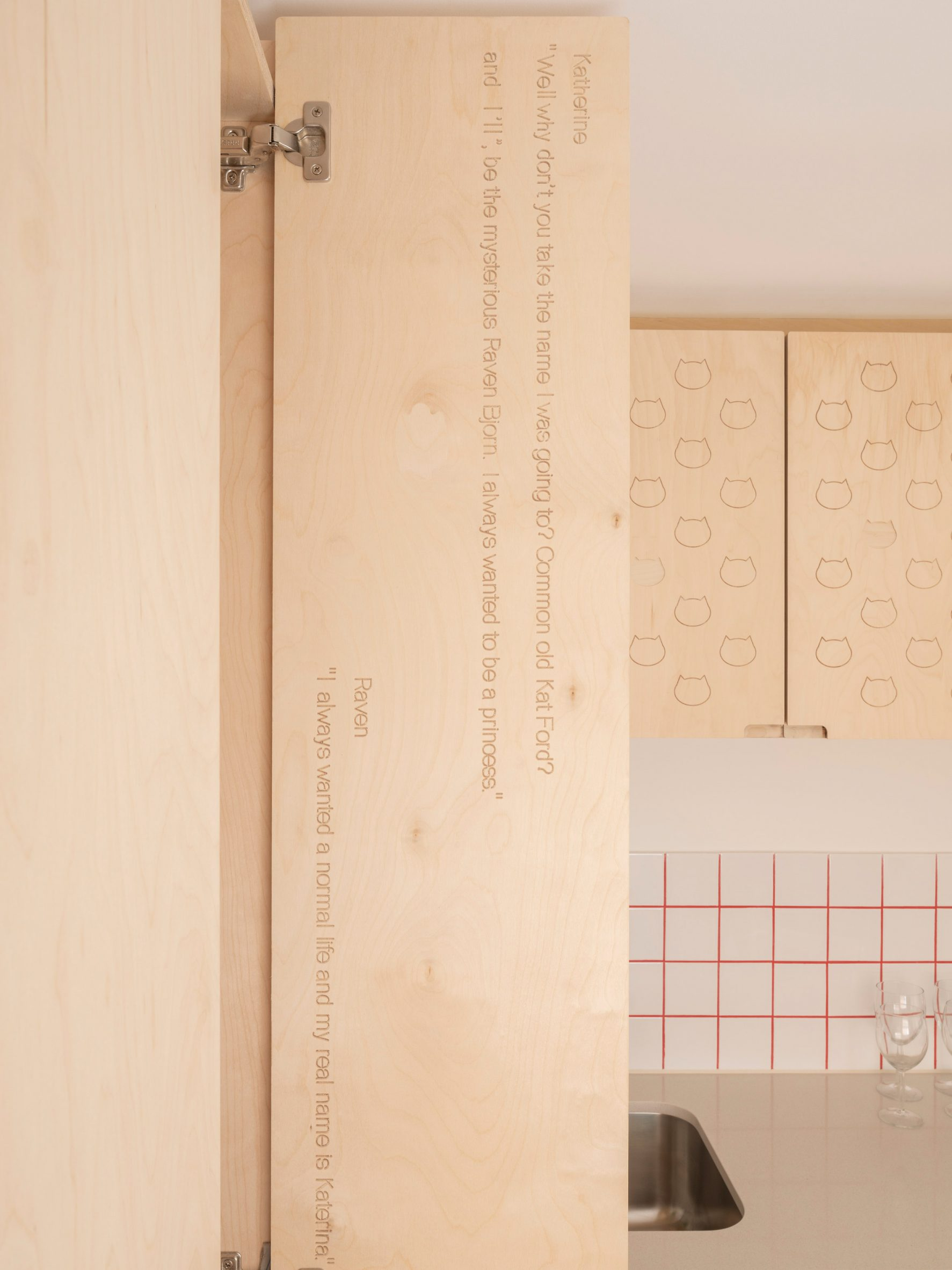 Kitchen detail in The Queen of Catford by Tsuruta Architects