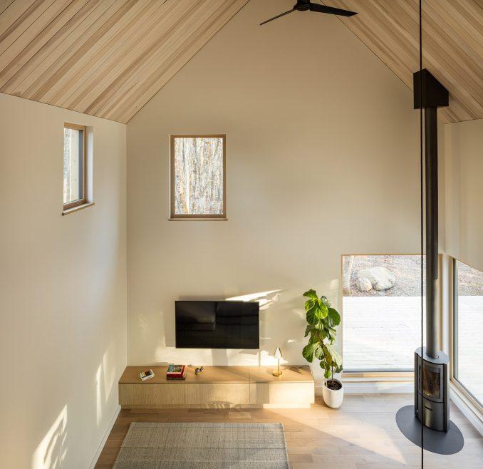 Living space inside Chalet Pic-Bois