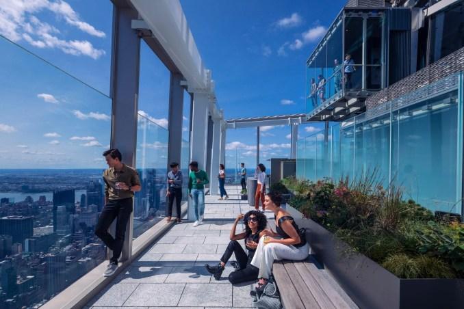 Terrace overlooking Manhattan