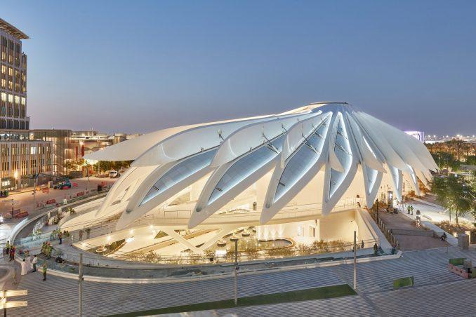 Opening roof on UAE Pavilion at Dubai Expo