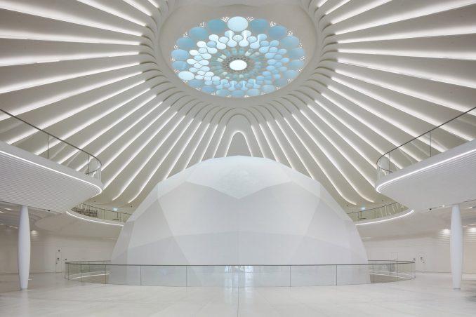 Roof light that looks like Dubai Expo logo