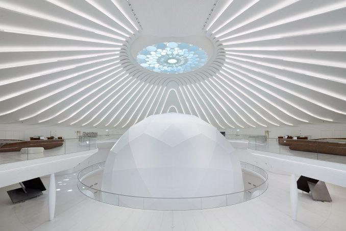 Sphere-shaped auditorium