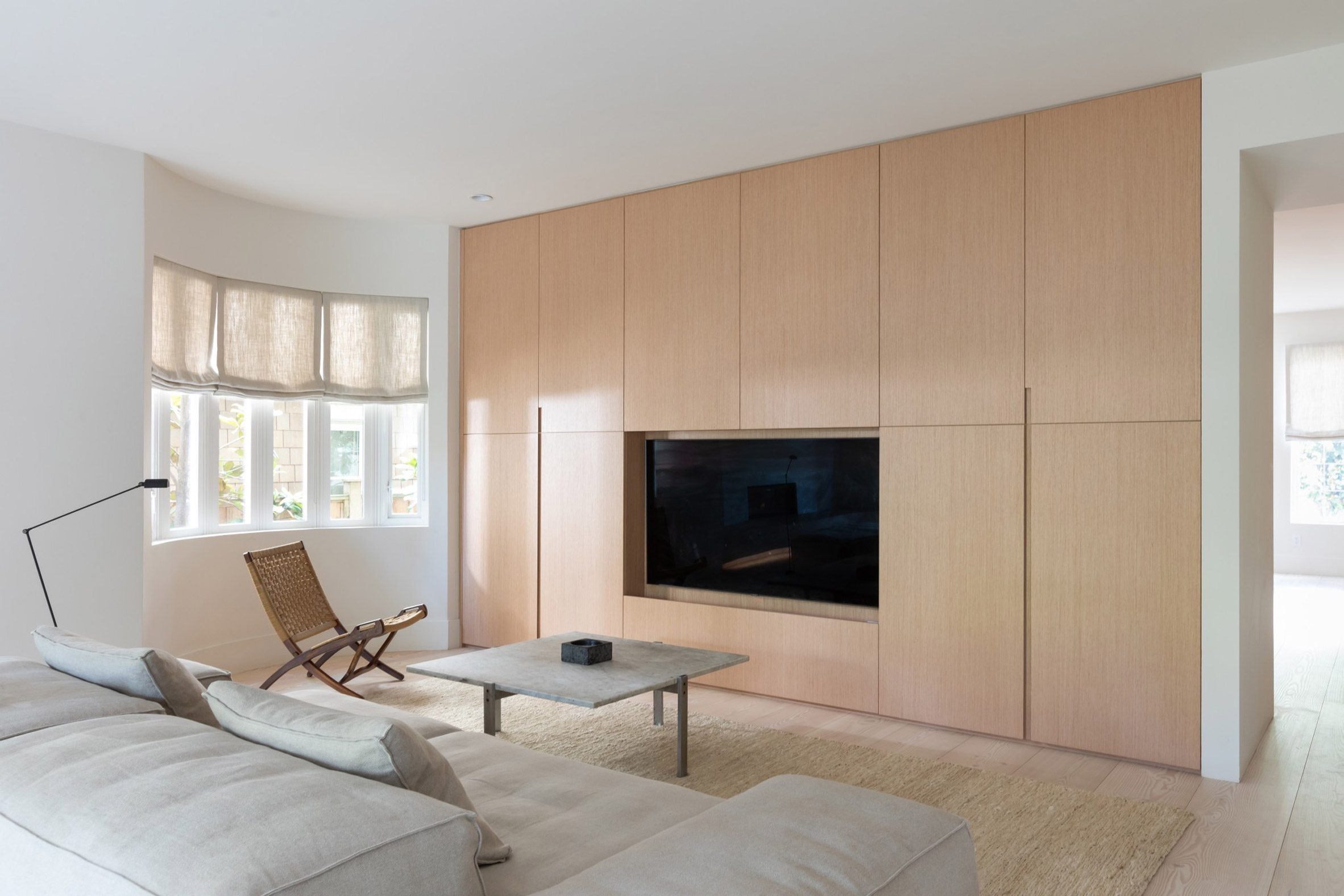 Wooden floors and oak cabinetry by untitled [design agency]