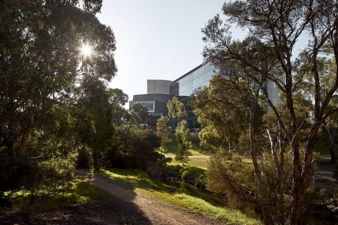 The largest wing at Deakin Law School was clad in glass