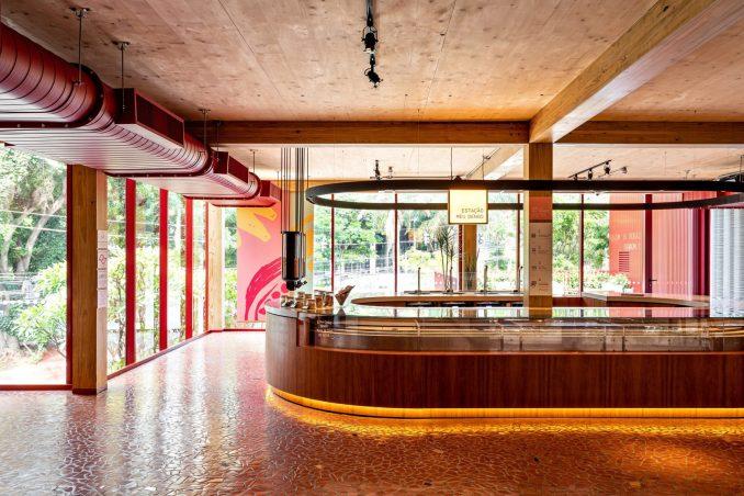 Interiors of Dengo Chocolate shop in São Paulo, Brazil