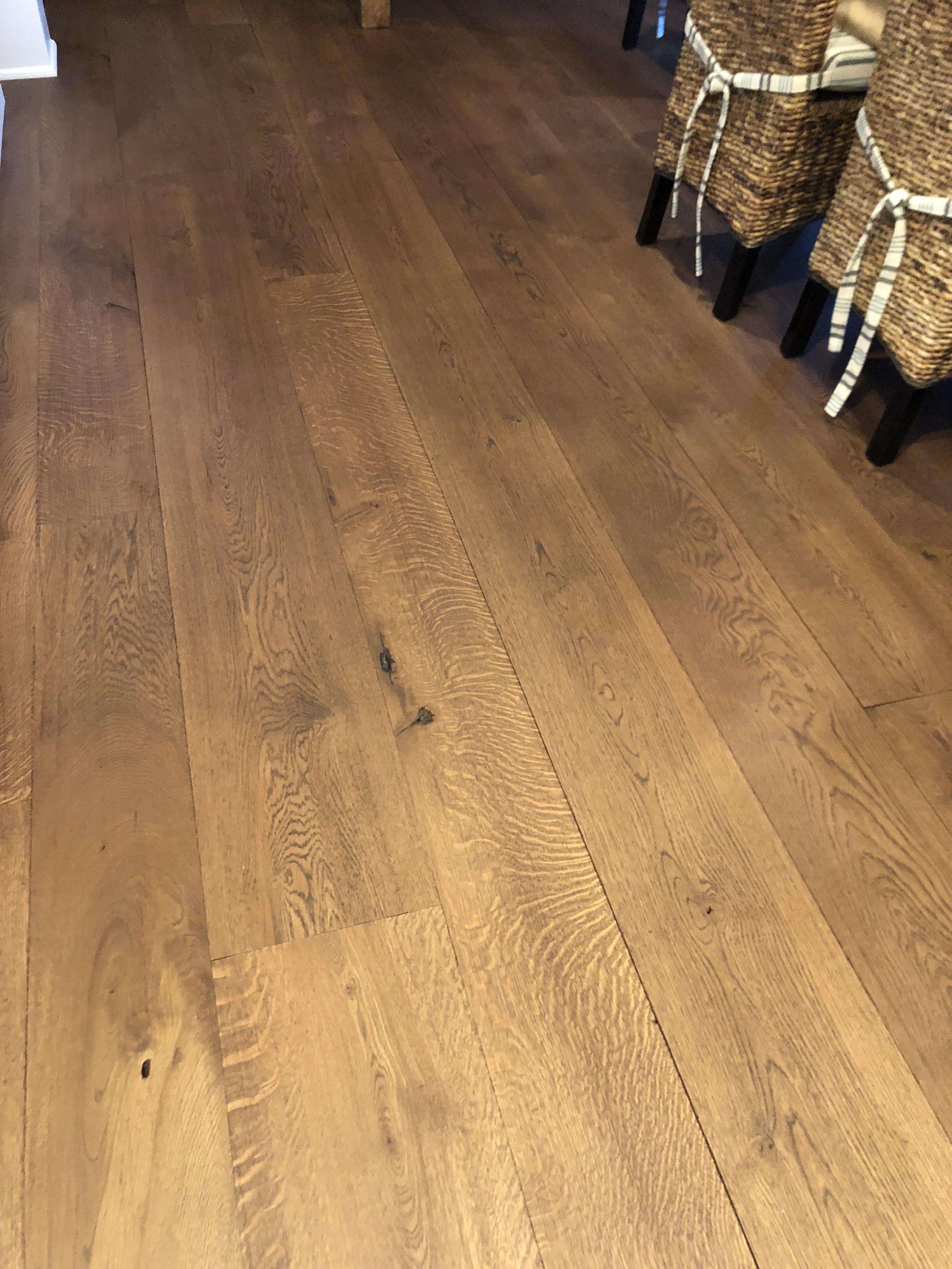 Quartered White Oak Rustic Grade Wide Plank Flooring