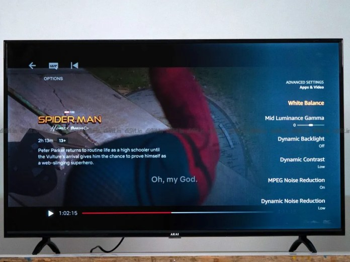 A Akai TV pode reproduzir conteúdo em SDR 1080p.