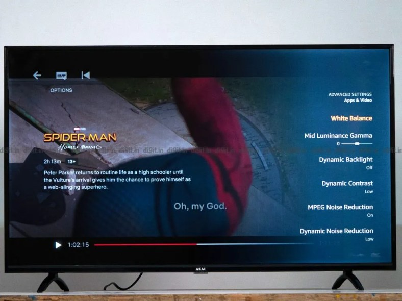 The Akai TV can play content in 1080p SDR.
