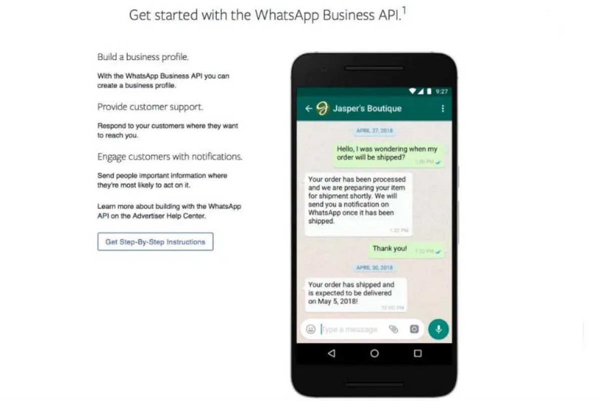 WhatsApp for Business will charge firms if they reply late