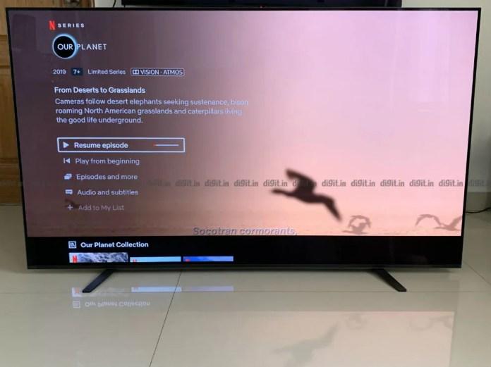 O Sony A8H pode reproduzir Dolby Vision e Dolby Atmos ocntent
