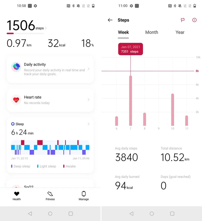 The OnePlus Health app needs more work to make it intuitive and user friendly.