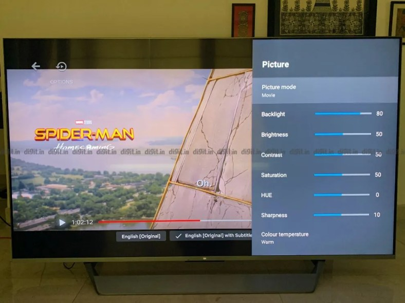 The Mi QLED TV 75 has good performance for SDR content.