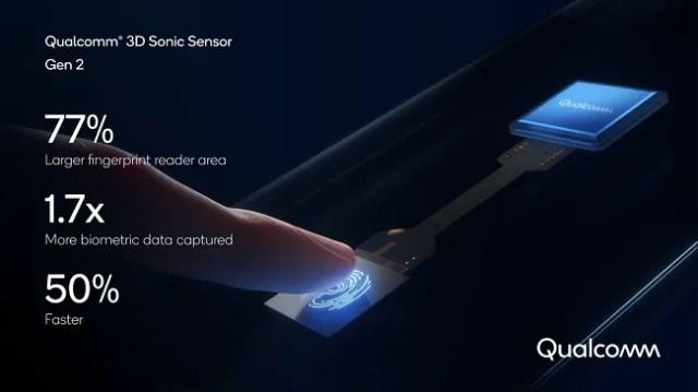 Qualcomm Second Gen fingerprint reader sensor