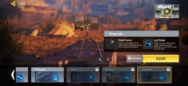 The Desperado class is the newest addition to Call of Duty: Mobile