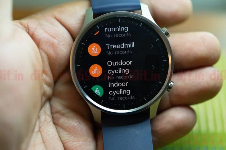 Mi Watch Revolve can track ten professional sporting activities