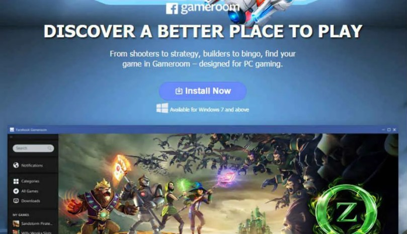 Facebook announces Gameroom  a new PC gaming platform powered by     Facebook announces Gameroom  a new PC gaming platform powered by