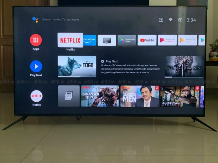 O Realme SLED TV funciona com Android TV.