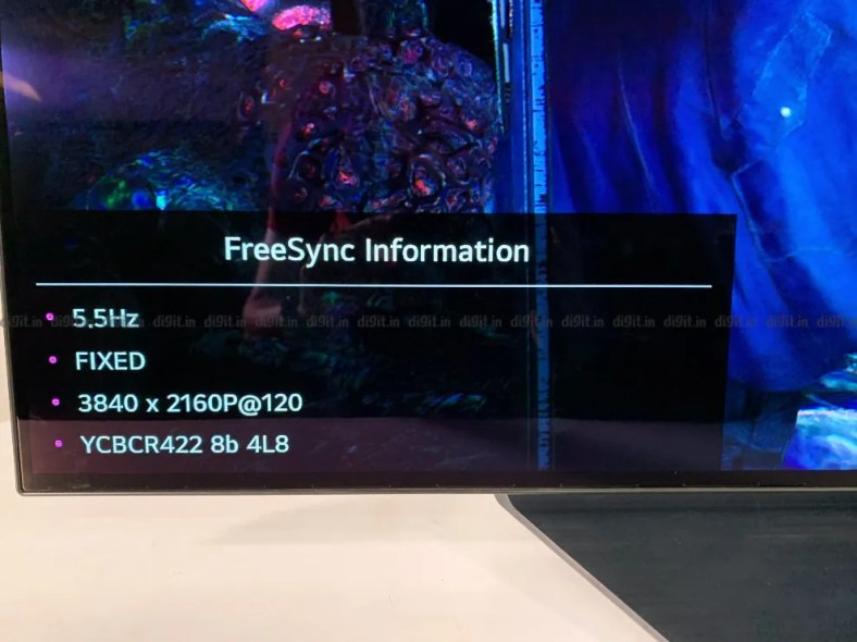LG CX can play games in 4K at 120Hz.