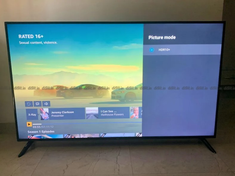 The Redmi Smart TV X65 supports HDR 10+