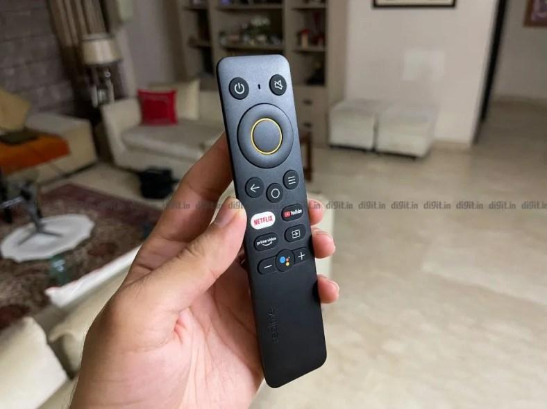 Realme 32-inch FHD TV remote control.