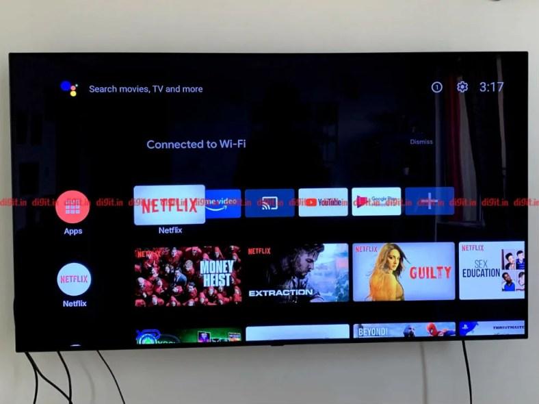 The Mi Box 4K runs on the Android TV UI.