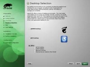 Captura de tela do Open SUSE 11.3
