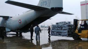 Военни спартанци, натоварени с хуманитарна помощ за Хърватия (снимка)