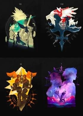 final fantasy posters art prints