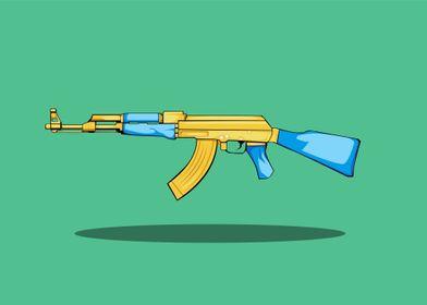 ak 47 vector cartoon