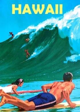 vintage hawaii posters art prints