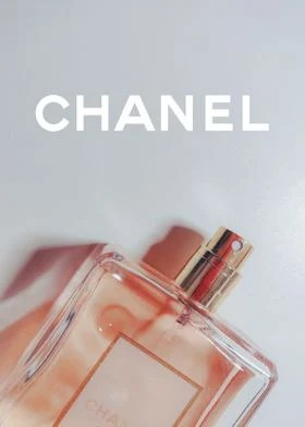 chanel perfume art poster by lea